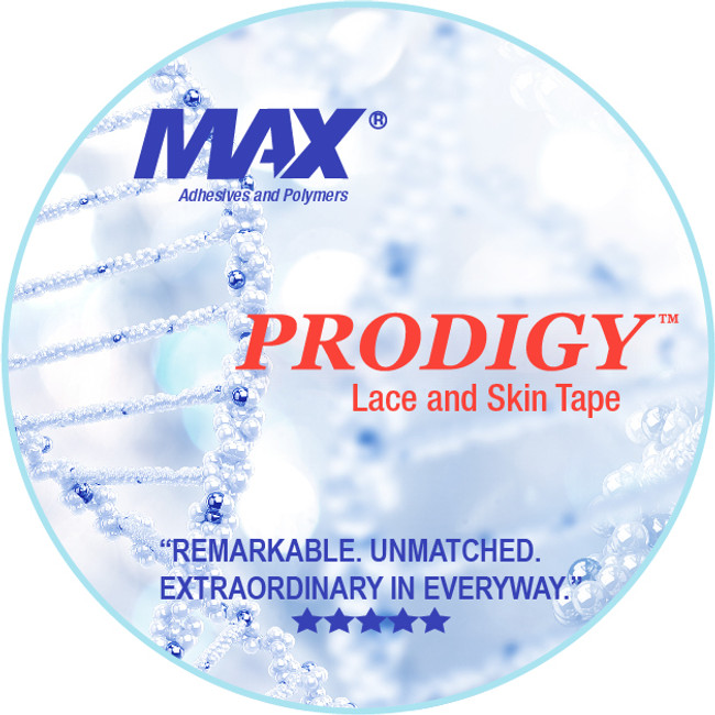 "Max Adhesives Prodigy Lace & Skin Hairpiece tape 3/4"" x 3 yards"