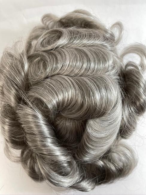 Men's Hairpiece - Fine Mono with Glass Silk Perimeter