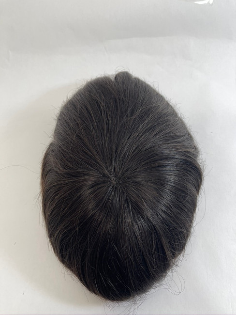 Women's Custom Top-of-Head Hair System Fine Mono with Underventing