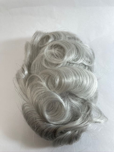 Men's Custom Hairpiece French Lace Glass Silk