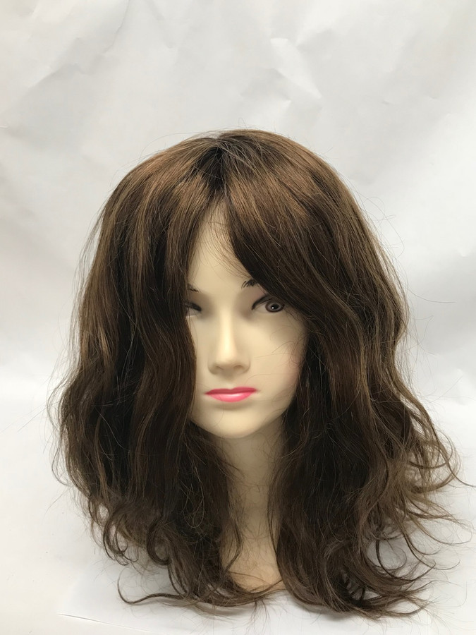 Women's Custom Hair System, Fine Mono, Poly Perimeter, Lace Front