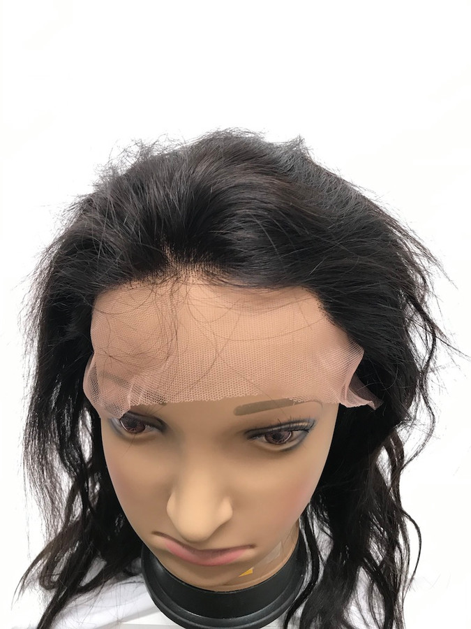 "Lace Front Wig, Glueless, Indian REMY, Color 2, 12"", Straight"