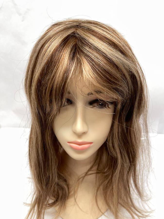 Women's Custom Hair System with Blonde Circular HighLites