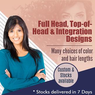 Women's Hair Systems, Top of Head, Integrations