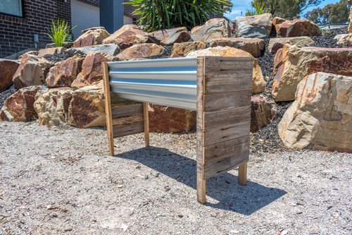 Rustic RAISED MEDIUM Planter Box