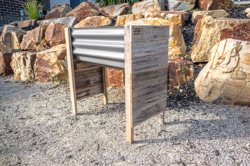 Rustic RAISED SMALL Planter Box - Colorbond