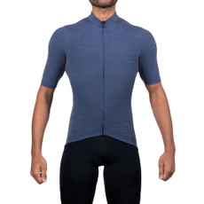 Black Sheep's Men's Merino Cycling Jersey in Navy