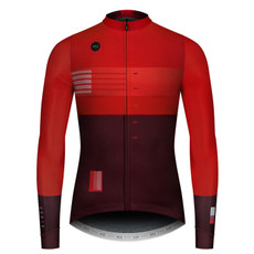 GOBIK Men's Long Sleeve Cobble Twilight Red Jersey - Front