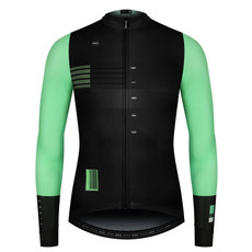 GOBIK Men's Long Sleeve Cobble Celeste Green Jersey - Front