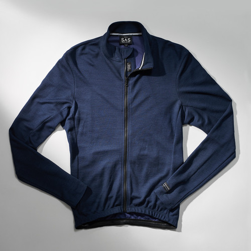 Search and State Long Sleeve Merino Jersey in Blue
