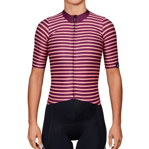 Black Sheep Team Collection 19 Plum Stripe Jersey for Women