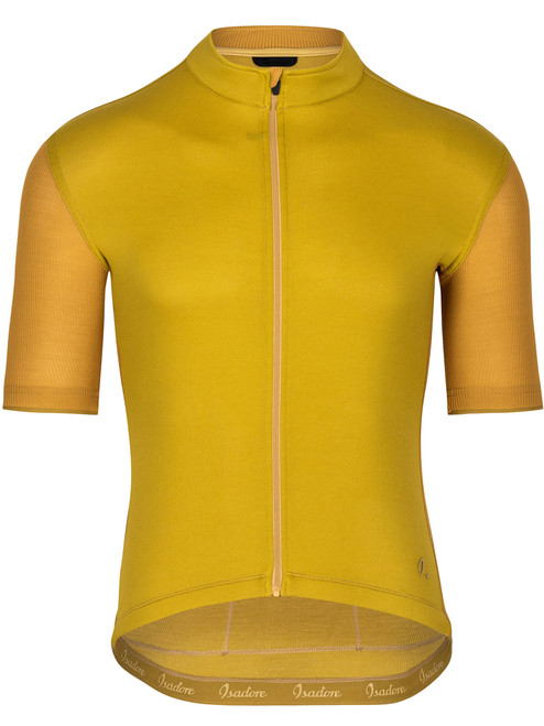 Isadore Men's Signature Cycling Jersey - Olive Oil/Chai Tea