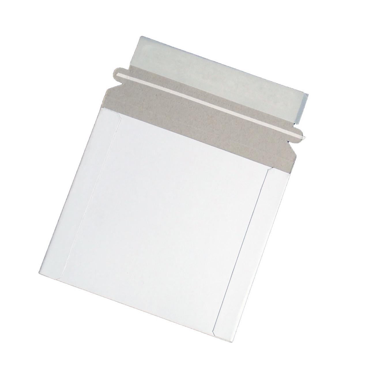 "50 Generic 6/"" x 6 /"" CD//DVD media//Photo White Cardboard  Mailers"
