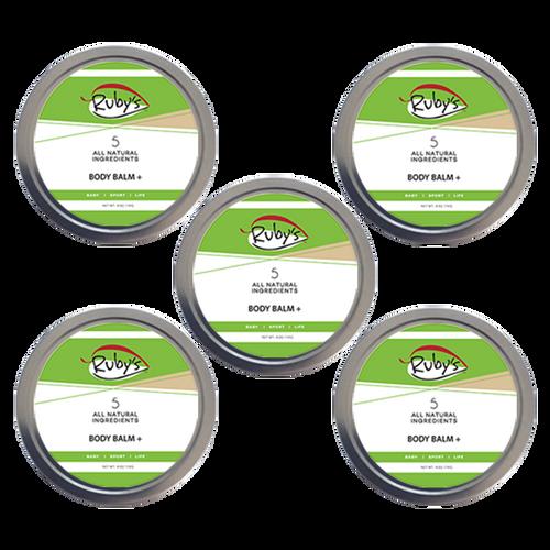 Body Balm Plus 4 oz wax 5 pack