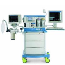 Front view of the Drager Fabius GS Anesthesia Machine -Refurbished with accessories