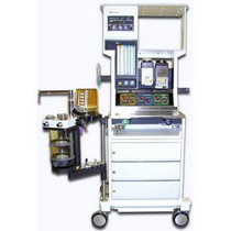 Front view of the Datex-Ohmeda Excel 210 SE Anesthesia Machine - Refurbished