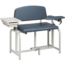 Clinton Lab X Bariatric Extra Tall Blood Drawing Chair with Drawer
