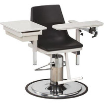 Clinton H Series E-Z-Clean Hydraulic Blood Drawing Chair with Drawer