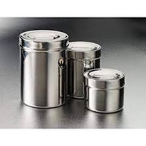 4238 Ointment Jar 8 oz Stainless Steel