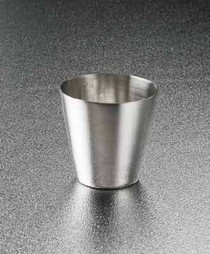 4241 Graduated Medicine Cup  2 oz. Silver Stainless Steel