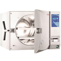Interior view of the opened chamber for the Tuttnauer 3870EA Large Capacity Autoclave Automatic Refurbished