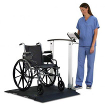 Detecto 6560 Portable Wheelchair Scale with Handrail