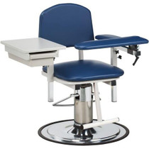 Clinton H Series Padded Hydraulic Blood Drawing Chair with Drawer