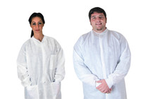 341P AntiSterileatic Lab Coat Medium  Non-Sterile Pocket