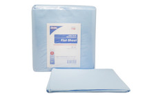 "Ambulance Cot Disposable Linens 7102, Premium Wet Wipes, Flat Sheet, Fluid Resistant 85"" x 41"" Blue Non-Sterile 5/bg"