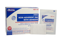 """124 Non-Adherent Pad with Adhesive Sterile 2""""x 3"""""""