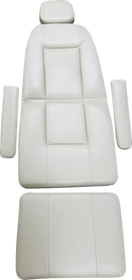 Custom upholstery set displayed before installation on the Midmark 117 chair.