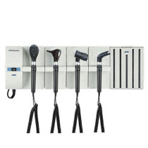 ADC Adstation 56102-56 3.5V Wall Otoscope/Coax Plus Ophthalmoscope/Throat Illuminator/Dermascope Diagnostic Set