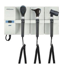 ADC Adstation 56102-5 3.5V Wall Otoscope/Coax Plus Ophthalmoscope/Dermascope Diagnostic Set