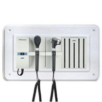 ADC Adstation 56802 3.5V Wall PMV Otoscope/Coax Plus Ophthalmoscope Diagnostic Set with Wallboard