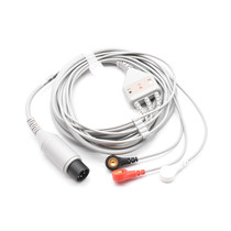 Zoll ECG Compatible 6 Pin 3 Leads - Snap