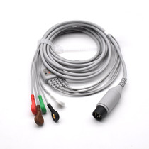 Zoll ECG Compatible 6 Pin 5 Leads - Snap