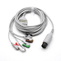 Zoll ECG Compatible 6 Pin 5 Leads - Grabber