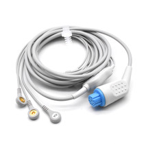 Datex Ohmeda ECG Compatible 10 Pin 3 Leads - Snap