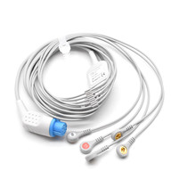 Datex Ohmeda ECG Compatible 10 Pin 5 Leads - Snap