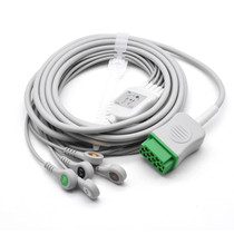 Datex Ohmeda ECG Compatible 11 Pin 5 Leads - Snap