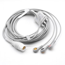 Philips ECG Compatible 12 Pin 3 Leads - Snap