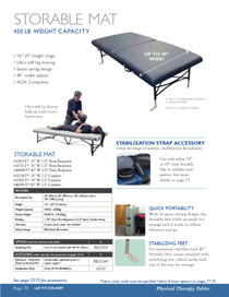 Oakworks Storable Mat Physical Therapy Table