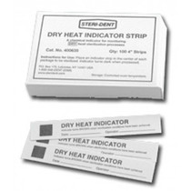 Product view of the Steri-Sure 400635 Dry Heat Indicator Strips 4""