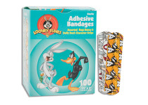 """Looney Tunes™ Adhesive Bandages Bugs Bunny & Daffy Duck Stat-Strip ¾"""" x 3"""""""