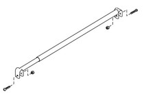 "Graham Field Anti-Folding Bar, Chromed (Lower Frame) Telescoping Width (22-30"") For Paramount XD"