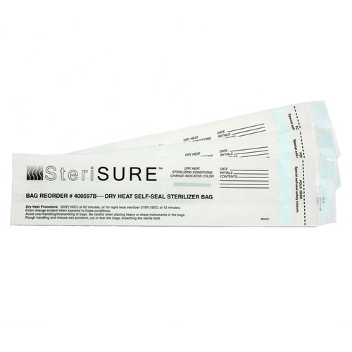 Product view of the Steri-SURE Dry Heat Sterilizer Bags 400597B