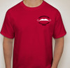Front of red tshirt.