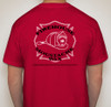 Back of red tshirt with FMW logo.