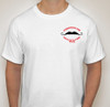 Front of white tshirt.