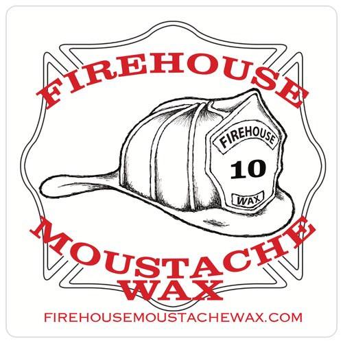 "4"" x 4"" Square Sticker Single featuring Firefighter Helmet Logo"